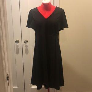 Calvin Klein cape sleeve dress